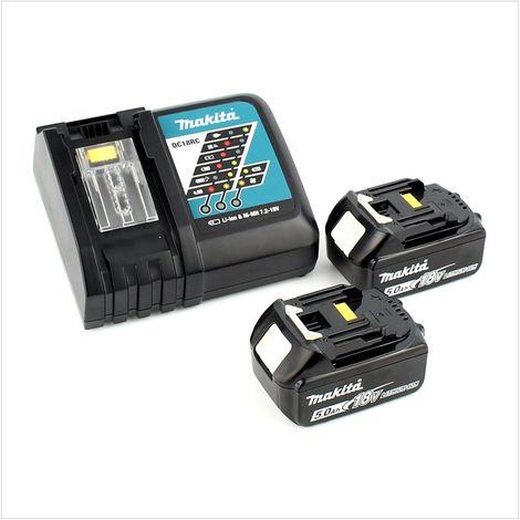 Makita DDF 482 RTJ Perceuse-visseuse sans fil de 18 V + Boîtier MAKPAC + 2x Batteries BL 1850 5,0 Ah + Chargeur DC18RC