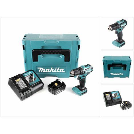 Makita DDF 483 RF1J 18 V Perceuse visseuse sans fil avec boîtier Makpac + 1x Batterie BL 1830 3,0 Ah + Chargeur DC18RC