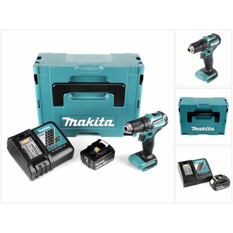 Makita DDF 483 RT1J 18 V Perceuse visseuse sans fil avec boîtier Makpac + 1x Batterie BL 1850 5,0 Ah + Chargeur DC18RC