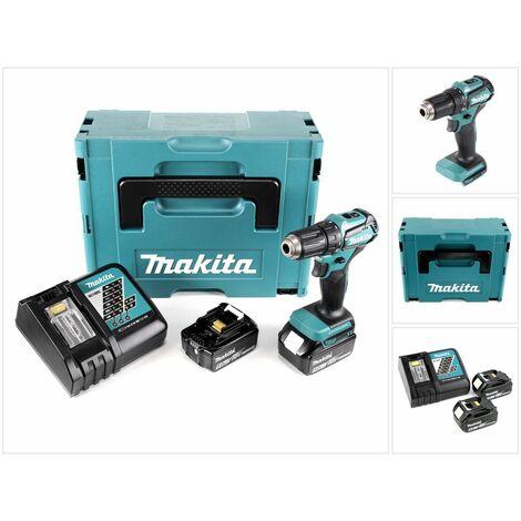 Makita DDF 483 RTJ 18 V Perceuse visseuse sans fil avec boîtier Makpac + 2x Batteries BL 1850 5,0 Ah + Chargeur DC18RC