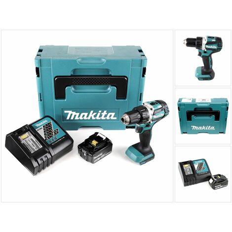 Makita DDF 484 RT1J 18 V Perceuse visseuse sans fil Brushless 54 Nm avec boîtier Makpac + 1x Batteries BL1850 5,0 Ah + Chargeur DC18RC