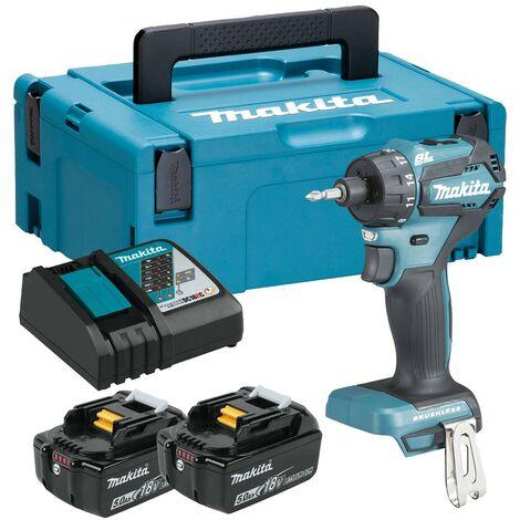"""Makita DDF083RTJ 18v LXT Li-ion 6.35mm Drill Driver Cordless 1/4"""" Hex 2 x 5.0ah"""