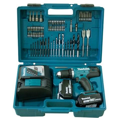 Makita DDF453RFX1 - Taladro atornillador 18V Litio-ion + kit accesorios 74 pieza