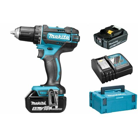 Makita DDF482RTJ Perceuse visseuse à batteries 18V Li-Ion set (2x batterie 5,0Ah) dans MAKPAC