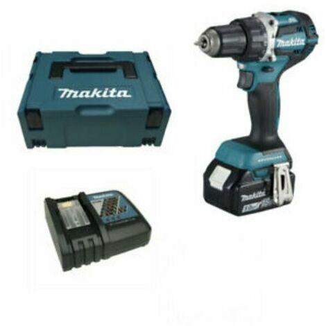 Makita DDF483Y1J - Set perceuse visseuse Li-Ion 18V (1x batterie 1,5Ah) - moteur brushless - 40Nm