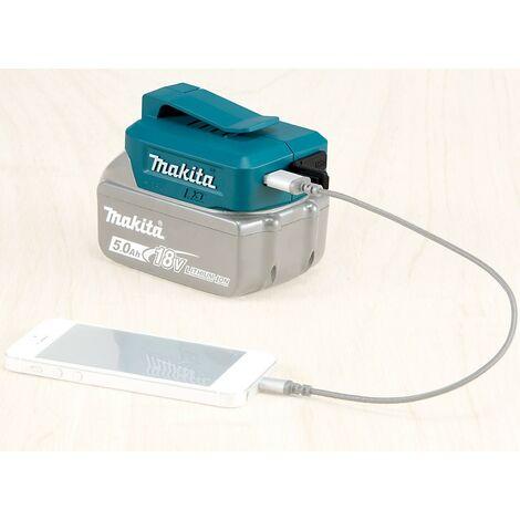 "main image of ""Makita DEBADP05 2 x USB Port Battery Charger for 14.4v 18v LXT Lithium Batteries"""