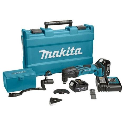 Makita - Découpeur ponceur multifonctions 18V 3Ah Li-Ion + Accessoires - DTM51RFJX1