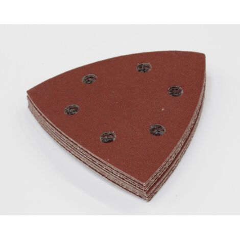 Makita Delta-Schleifpapier Longlife für Holz Set, 93mm, 10-teilig B-21559, Schleifblatt, P60 - P180
