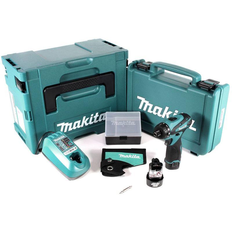 Makita DF 030 DWJ Akku-Schrauber 10,8V im Koffer+2x 1,3 Ah Akku+Ladegerät+Makpac