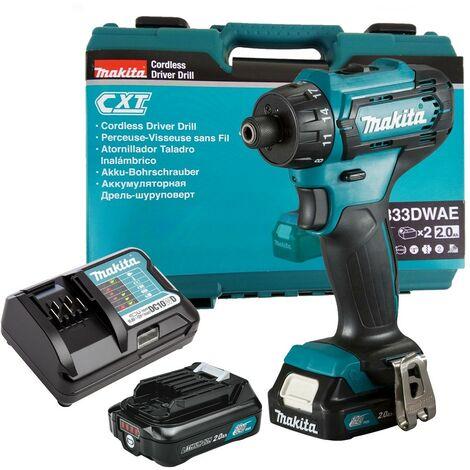 "Makita DF033DWAE 12V Max 10.8V CXT 1/4"" Hex Drill Driver Compact - 2x Batteries"