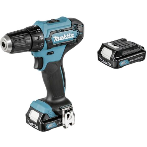 MAKITA DF331DSAE perceuse visseuse sans fil 30 Nm 2 batteries Li-ion 12 V x 2,0 Ah + Chargeur rapide DC10SA + Coffret