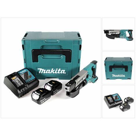 Makita DFR 550 RMJ 18 V Li-Ion Visseuse automatique sans fil + Coffret Makpac + 2 x Batteries 4,0 Ah + Chargeur
