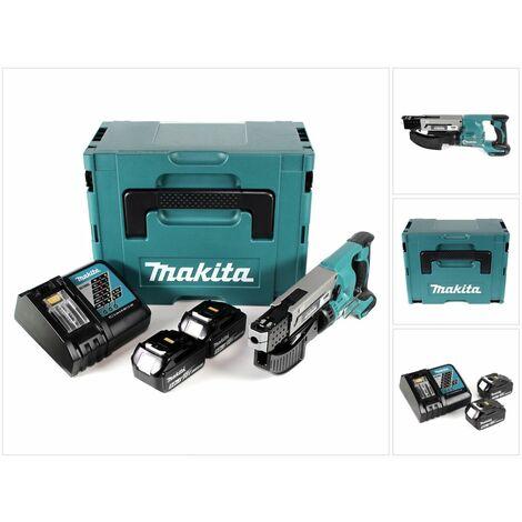 Makita DFR 550 RTJ 18 V Li-Ion Visseuse automatique + Coffret Makpac + 2x Batteries 5,0 Ah + Chargeur