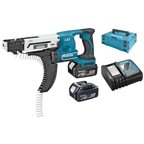 Makita DFR550RMJ Visseuse automatique à batteries 18V Li-ion set (2x batterie 4.0Ah) in MAKPAC