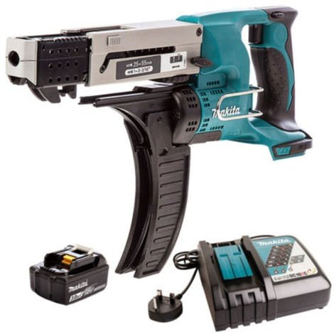 Makita DFR550Z 18V Auto Feed Screwdriver With 1 x 3.0Ah Battery & Charger:18V