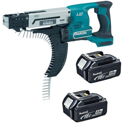 Makita DFR550Z 18v LXT Cordless Auto Feed Screwdriver with 2 x 4.0Ah Battery