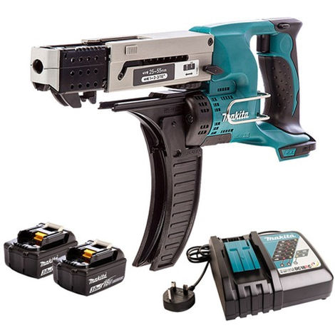 Makita DFR550Z 18v LXT Screwdriver With 2 x 3.0Ah Battery & Charger