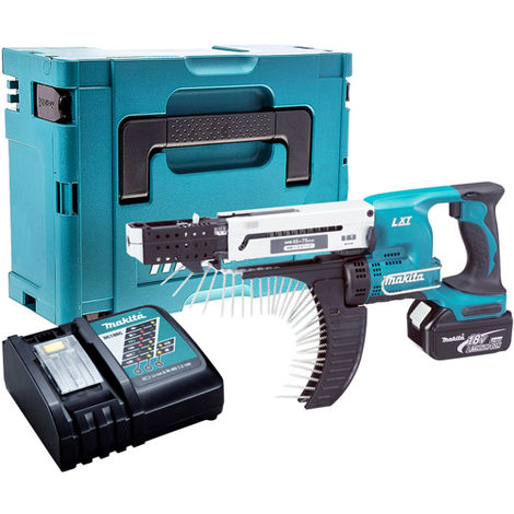 Makita DFR750Z 18V Screwdriver with 1 x 3.0Ah Battery & Charger in Case:18V