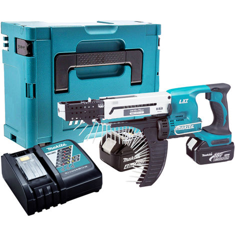 Makita DFR750Z 18V Screwdriver with 2 x 4.0Ah Battery & Charger in Case:18V