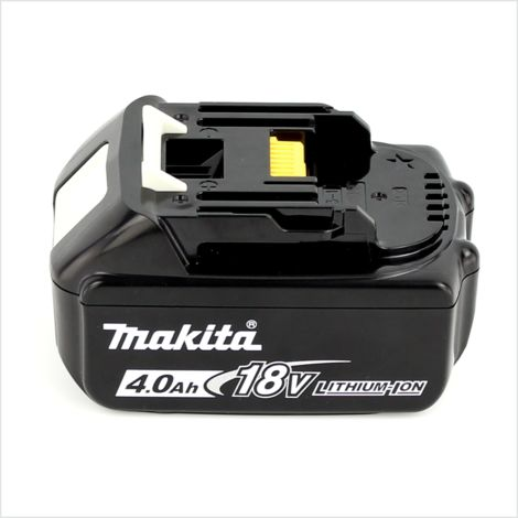 Makita DGA 504 M1J Mini-Amoladora inalámbrica 125 mm 18 V en Makpac 3 + 1x Batería BL 1840 4,0 Ah ( Sin cargador )