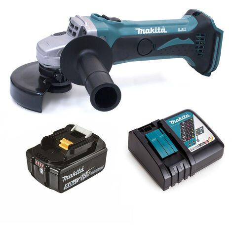 Makita DGA452 18v Angle Grinder 115mm with 1 x 5.0Ah Battery