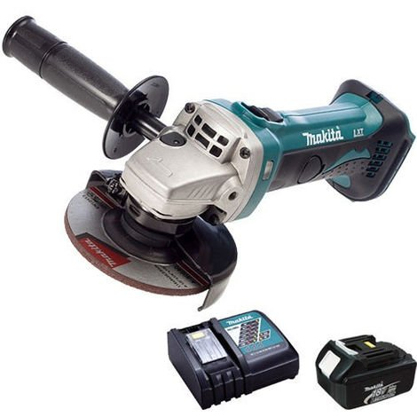 Makita DGA452Z 18V 115mm Angle Grinder With 1 x 3.0Ah Battery & Charger