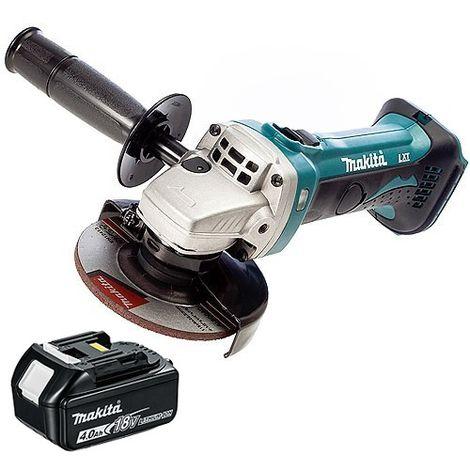 Makita DGA452Z 18V 115mm Cordless Angle Grinder With 1 x 4.0Ah Battery
