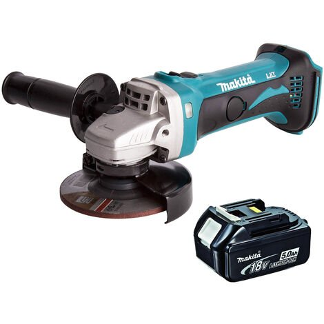 Makita DGA452Z 18V 115mm Cordless Angle Grinder With 1 x 5.0Ah Battery