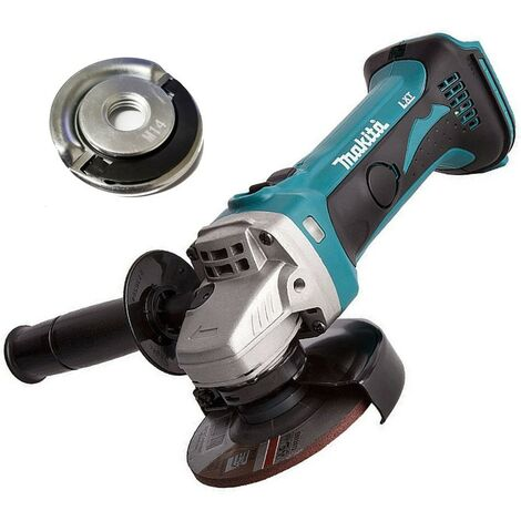 "Makita DGA452Z 18v 4.5"" 115mm Angle Grinder Lithium Ion Bare Unit + Flange Nut"