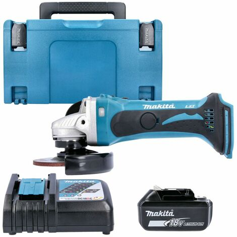 Makita DGA452Z 18V li-ion Angle Grinder With 1 x 5.0Ah Battery, Charger, Case & Inlay