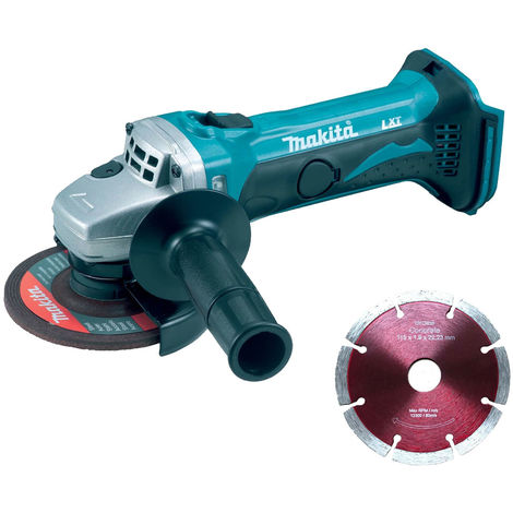 """Makita DGA452Z 18V LXT 4.5"""" Angle Grinder with 1 x 115mm Segmented Blade"""