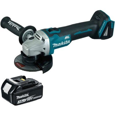 Makita DGA463 18V LXT 115mm Brushless Angle Grinder With 3.0Ah Battery