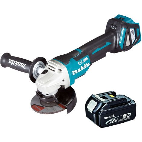 Makita DGA463 18V LXT 115mm Brushless Angle Grinder With 5.0Ah Battery