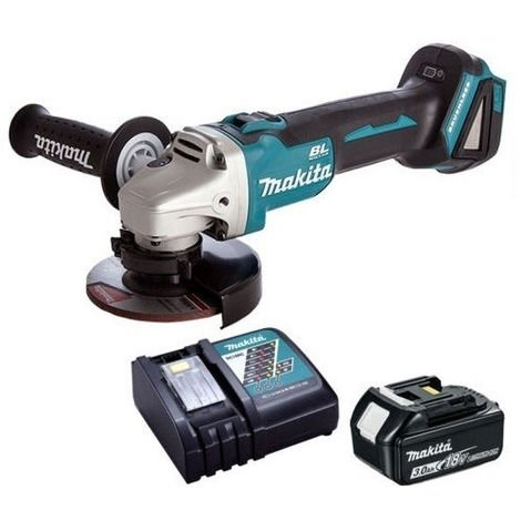 Makita DGA463Z 18v Brushless 115mm Angle Grinder with 1 x 3.0Ah & Charger