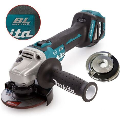 Makita DGA463Z 18v Cordless Brushless 115mm Angle Grinder Bare Tool + Flange Nut