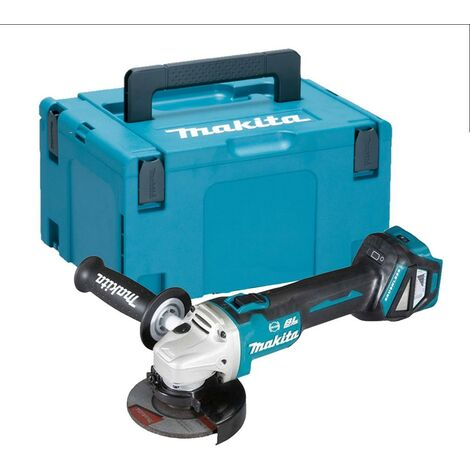 Makita DGA463Z 18v Cordless Brushless 115mm Angle Grinder Bare Unit Makpac Case