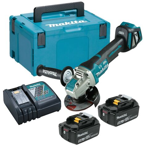 Makita DGA469RTJ 18v Cordless Brushless X-Lock Angle Grinder 115mm - 2x 5.0ah