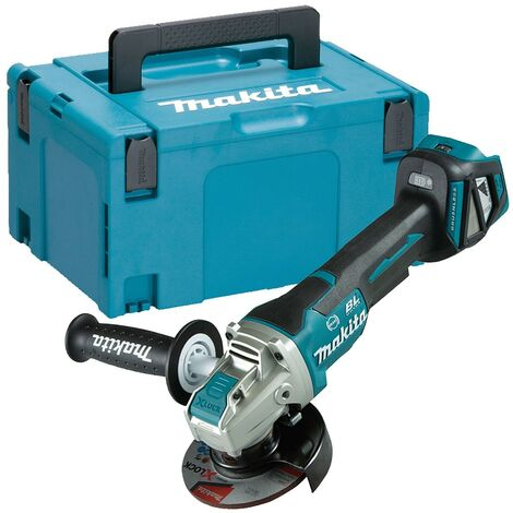 Makita DGA469Z 18v Cordless Brushless X-Lock Angle Grinder 115mm Bare +Makpac