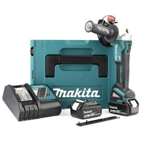 Makita DGA504RTJ - Set meuleuse d'angle Li-Ion 18V (2x batterie 5.0Ah) dans MAKPAC - 125mm - moteur brushless