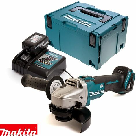 Makita DGA504Z 18V Angle Grinder With 1 x 3.0Ah Battery, Charger & Case