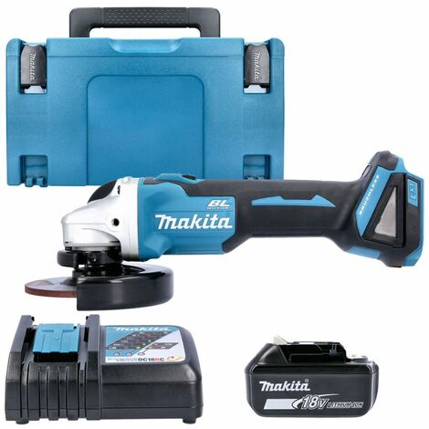 Makita DGA504Z 18V Angle Grinder With 1 x 5.0Ah Battery, Charger & Case