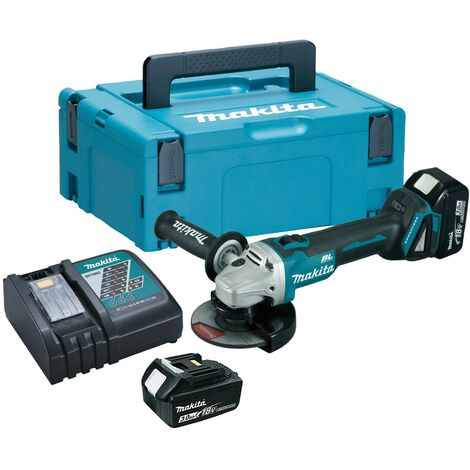 Makita DGA506RFJ 18v Cordless Brushless 125mm Angle Grinder Lithium - 2 x 3.0ah