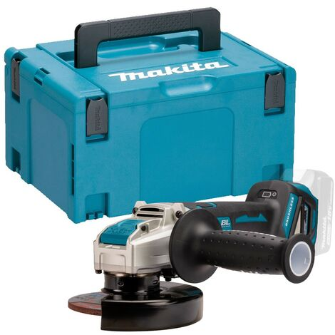 Makita DGA519Z 18v Cordless Brushless X-Lock Angle Grinder 125mm Bare + Makpac