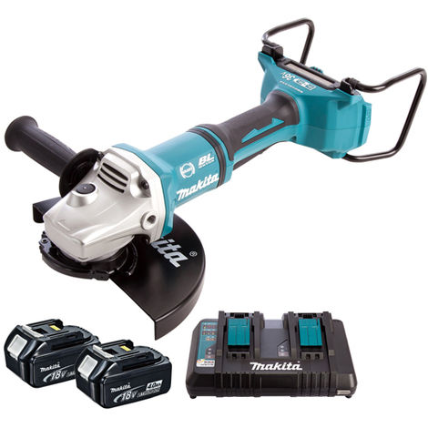 Makita DGA900Z 36V Brushless Angle Grinder 230mm with 2 x 4.0Ah Battery