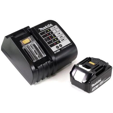 Makita DHP 453 SFTK Perceuse visseuse à percussion 18 V + 1x Batterie BL 1830 3 Ah + Chargeur + 101 pièces Set d'accessoires + Coffret de transport