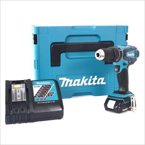 Makita DHP 456 Kit Y1J-D Perceuse-visseuse à percussion sans fil 18V Vert avec boîtier MAKPAC inclus Batterie BL 1815 N + chargeur DC18RC
