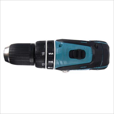 Makita DHP 456 ZE Taladro atornillador percutor a batería 18V + Plástico interior para Makpac