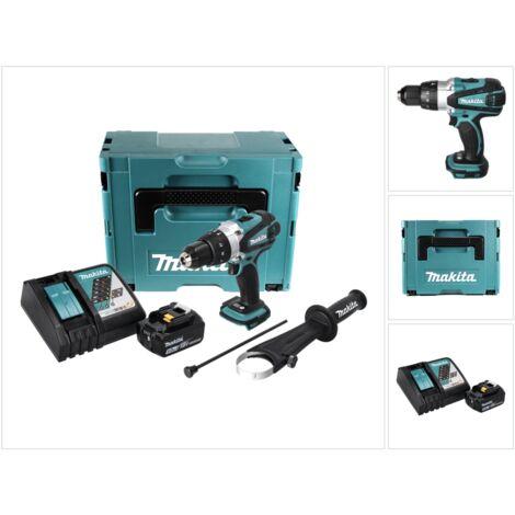 Makita DHP 458 RT1J Perceuse visseuse percussion sans fil 18V 91Nm + 1x Batterie 5.0Ah + Chargeur + Makpac 2