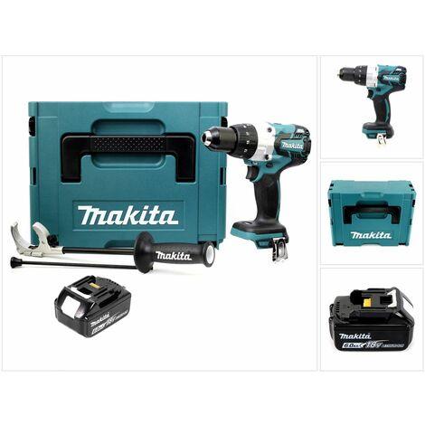 Makita DHP 481 RG1 18V Perceuse-visseuse à percussion sans fil Brushless 115 Nm + Coffret de transport Makpac + 1 x Batterie BL1860 6,0 Ah - sans Chargeur