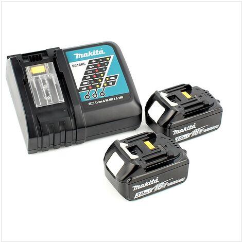 Makita DHP 482 RFWJ Perceuse visseuse à percussion sans fil 18V 62Nm + 2x Batteries 3,0Ah + Chargeur + Coffret Makpac